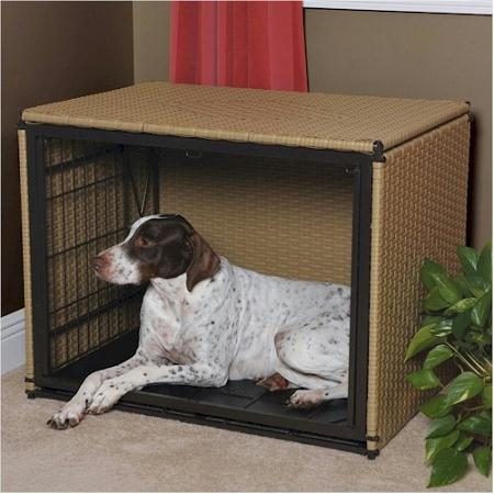 Mr Herzhers Side Entry Dog Crate Large Brown The